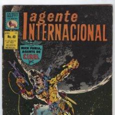 BDs: AGENTE INTERNACIONAL: NICK FURIA - MARVEL - Nº 40 - MAYO 31 DE 1969 *** EDITORIAL LA PRENSA ***. Lote 246662470