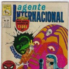 BDs: AGENTE INTERNACIONAL: NICK FURIA - MARVEL - Nº 39 - ABRIL 30 DE 1969 *** EDITORIAL LA PRENSA ***. Lote 246662985