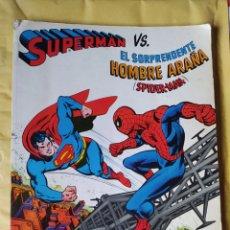 Tebeos: DIFICILÍSIMO-TOMO SUPERMAN VS EL SORPRENDENTE HOMBRE ARAÑA SPIDERMAN-PRIMERA EDICIÓN- NOVARO 1977. Lote 246710835