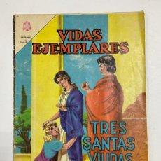 Tebeos: VIDAS EJEMPLARES. Nº 176. TRES SANTAS VIUDAS. EDITORIAL NOVARO.. Lote 247293160