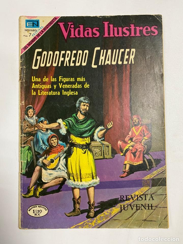 VIDAS ILUSTRES. Nº 218 - GODOFREDO CHAUCER. REVISTA JUVENIL. NOVARO (Tebeos y Comics - Novaro - Vidas ilustres)