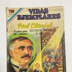 Tebeos: VIDAS EJEMPLARES. Nº 315. PAUL CLAUDEL. EDITORIAL NOVARO.. Lote 247299710