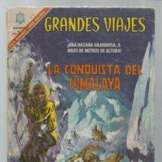 Tebeos: GRANDES VIAJES 45: LA CONQUISTA DEL HIMALAYA, 1966, NOVARO, USADO. COLECCIÓN A.T.. Lote 248674230