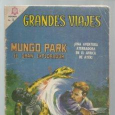 Tebeos: GRANDES VIAJES 42: MUNGO PARK, EL GRAN EXPLORADOR, 1966, NOVARO, USADO. COLECCIÓN A.T.. Lote 248675235