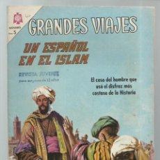 Tebeos: GRANDES VIAJES 40: UN ESPAÑOL EN EL ISLAM, 1966, NOVARO, BUEN ESTADO. COLECCIÓN A.T.. Lote 248675565