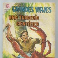 Tebeos: GRANDES VIAJES 38: UNA TRAVESÍA CIENTÍFICA, 1966, NOVARO, BUEN ESTADO. COLECCIÓN A.T.. Lote 248675935