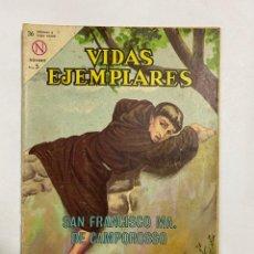 Tebeos: VIDAS EJEMPLARES. Nº 168 - SAN FRANCISCO MA. DE CAMPOROSSO. EDITORIAL NOVARO. Lote 249450525