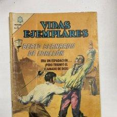 Tebeos: VIDAS EJEMPLARES. Nº 212 - BEATO BERNARDO DE CORLEÓN. EDITORIAL NOVARO. Lote 249450920