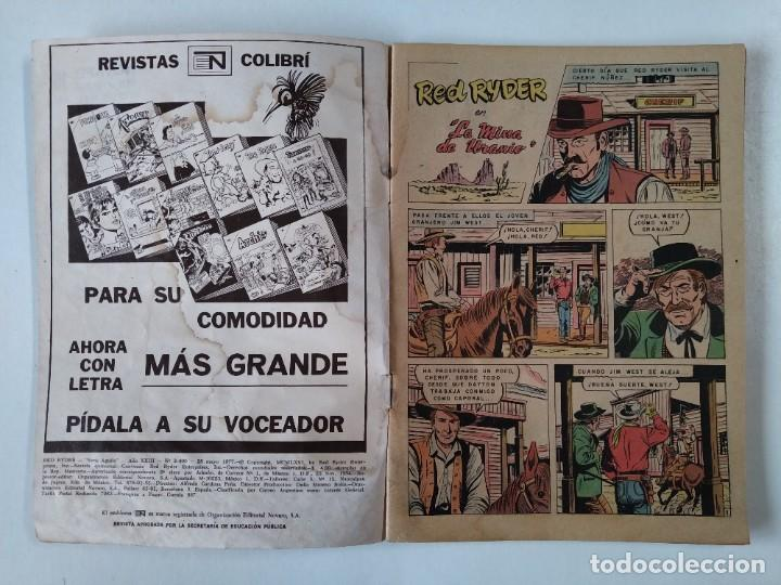 Tebeos: COMIC ORIGINAL - RED RYDER - SERIE AGUILA - AÑO XXIII - Nº 2 - NOVARO - AÑO 1977..L3698 - Foto 2 - 249516810