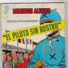 Tebeos: DOMINGOS ALEGRES: EL PILOTO SIN ROSTRO - NUMERO EXTRAORDINARIO - AÑO XI - NOV. 1º DE 1964 *NOVARO*. Lote 296556178
