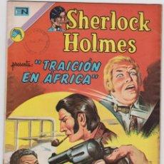 Tebeos: SHERLOCK HOLMES NÚMERO 8. NOVARO. AÑO 1973. TRAICIÓN EN ÁFRICA. BUEN ESTADO.. Lote 251245065