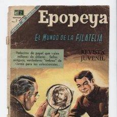 Livros de Banda Desenhada: EPOPEYA Nº 126, EL MUNDO DE LA FILATELIA. 1 NOV 1968. Lote 251263555