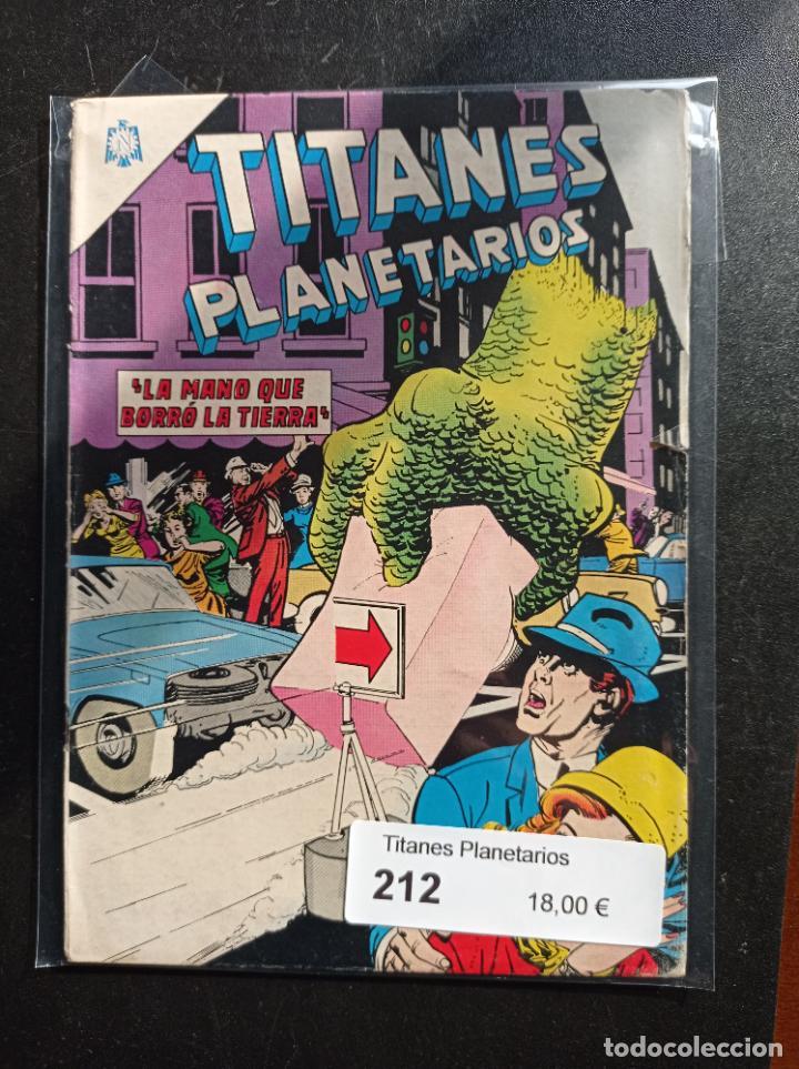 TITANES PLANETARIOS 212 (Tebeos y Comics - Novaro - Sci-Fi)