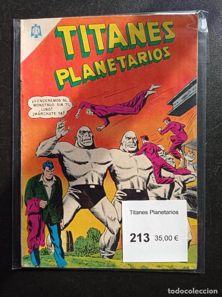 TITANES PLANETARIOS 213 (Tebeos y Comics - Novaro - Sci-Fi)