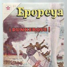 Tebeos: EPOPEYA 44: DUNKERQUE, 1962, NOVARO, MUY BUEN ESTADO. COLECCIÓN A.T.. Lote 251918735