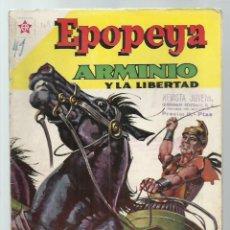 Tebeos: EPOPEYA 41: ARMINIO Y LA LIBERTAD, 1961, NOVARO, BUEN ESTADO. COLECCIÓN A.T.. Lote 251918960