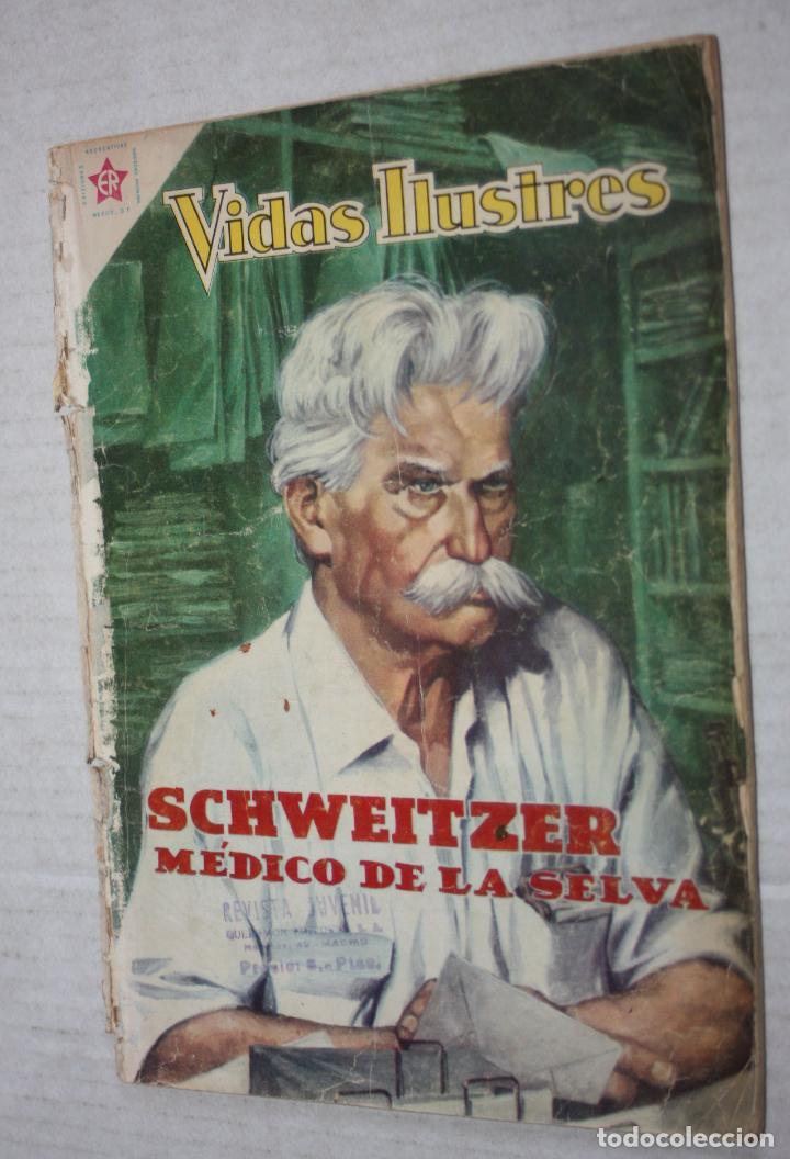 VIDAS ILUSTRES Nº 49 - SCHWEITZER, MEDICO DE LA SELVA - AÑO 1959 - ED. NOVARO . (Tebeos y Comics - Novaro - Vidas ilustres)