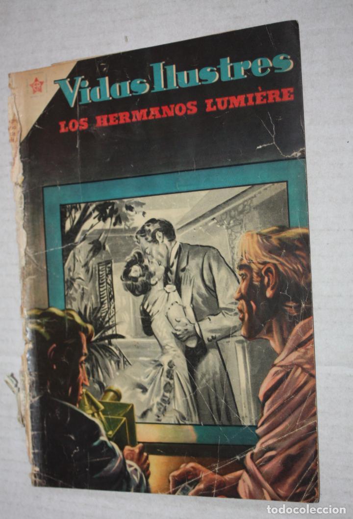 VIDAS ILUSTRES Nº 6 - LOS HERMANOS LUMIERE - PRECURSORES DEL CINEMATOGRAFO, 1956 - ED. NOVARO . (Tebeos y Comics - Novaro - Vidas ilustres)