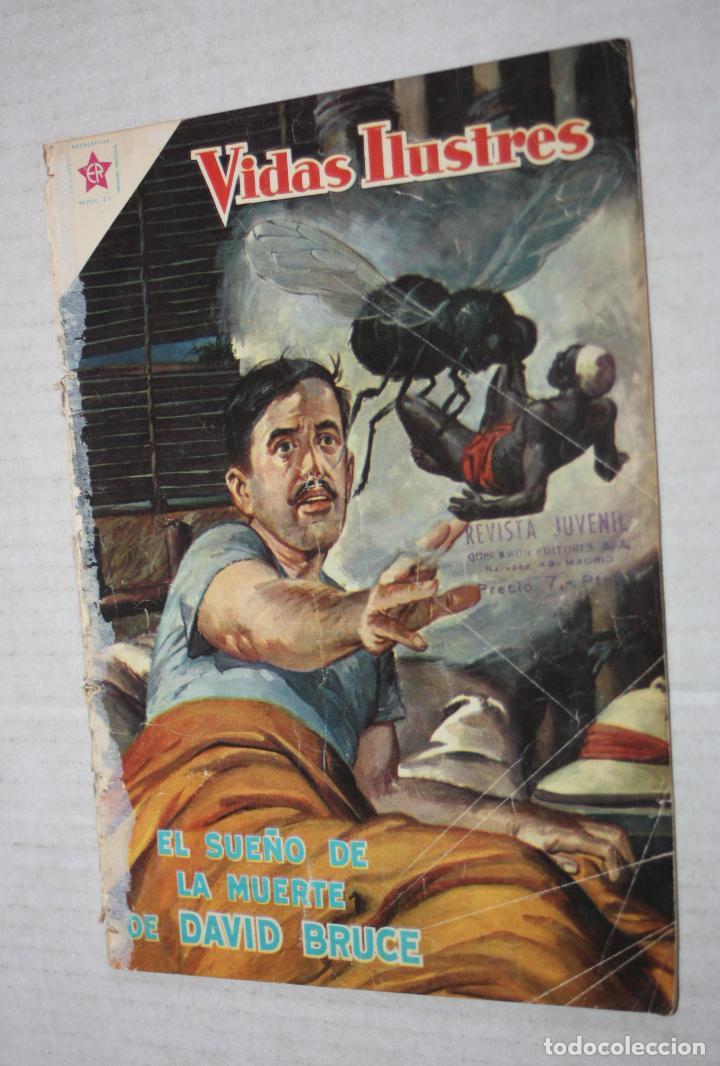 VIDAS ILUSTRES Nº 37 EL SUEÑO DE MUERTE DE DAVID BRUCE - AÑO 1959 - ED. NOVARO (Tebeos y Comics - Novaro - Vidas ilustres)