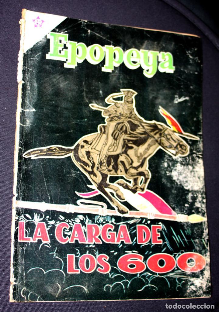 EPOPEYA # 24 NOVARO 1960 LA CARGA DE LOS 600( LA GUERRA RUSO-TURCA) (Tebeos y Comics - Novaro - Epopeya)