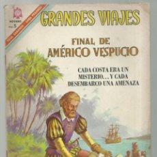 Tebeos: GRANDES VIAJES 47: FINAL DE AMÉRICO VESPUCIO, 1966, NOVARO, BUEN ESTADO. Lote 252447495