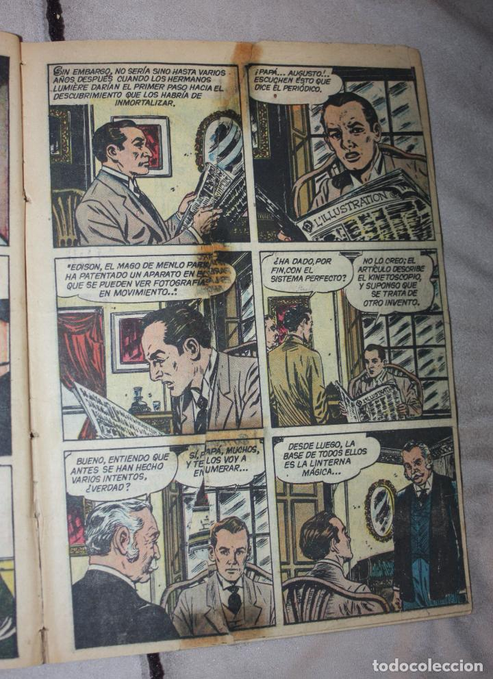 Tebeos: VIDAS ILUSTRES Nº 6 - LOS HERMANOS LUMIERE - PRECURSORES DEL CINEMATOGRAFO, 1956 - ED. NOVARO . - Foto 3 - 251946655