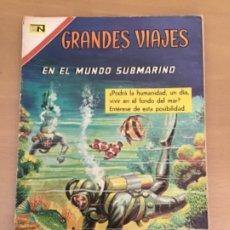 Tebeos: GRANDES VIAJES. Nº 57. NOVARO 1967. EN EL MUNDO SUBMARINO.. Lote 252513785