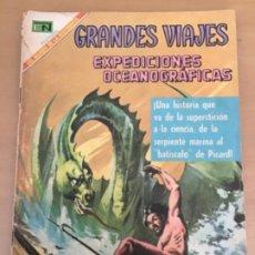 Tebeos: GRANDES VIAJES. Nº 73. NOVARO 1969. GRANDES EXPEDICIONES OCEANOGRAFICAS.. Lote 252514250