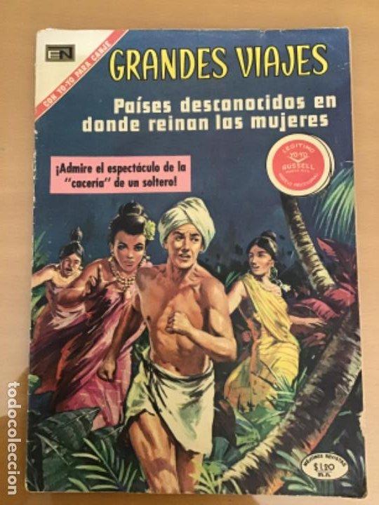 GRANDES VIAJES. Nº 98. NOVARO 1971. PAISES DESCONOCIDOS EN DONDE REINAN LAS MUJERES. (Tebeos y Comics - Novaro - Grandes Viajes)