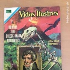 Tebeos: VIDAS ILUSTRES. Nº 227. NOVARO 1972. EL HOMBRE QUE COLECCIONABA MONSTRUOS. PALEONTOLOGIA (CUVIER). Lote 252519105