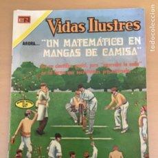 Tebeos: VIDAS ILUSTRES. Nº 273. NOVARO 1973. UN MATEMATICO EN MANGAS DE CAMISA. GODFREY HAROLD HARDY.. Lote 252521985