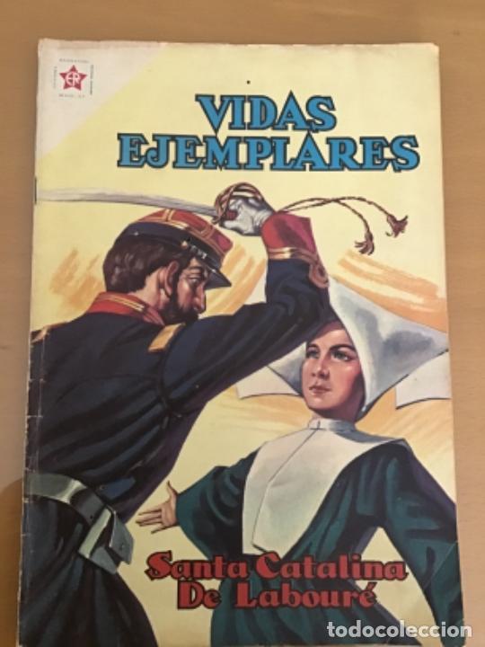 VIDAS EJEMPLARES. Nº 114. NOVARO 1961. SANTA CATALINA DE LABOURE (Tebeos y Comics - Novaro - Vidas ejemplares)