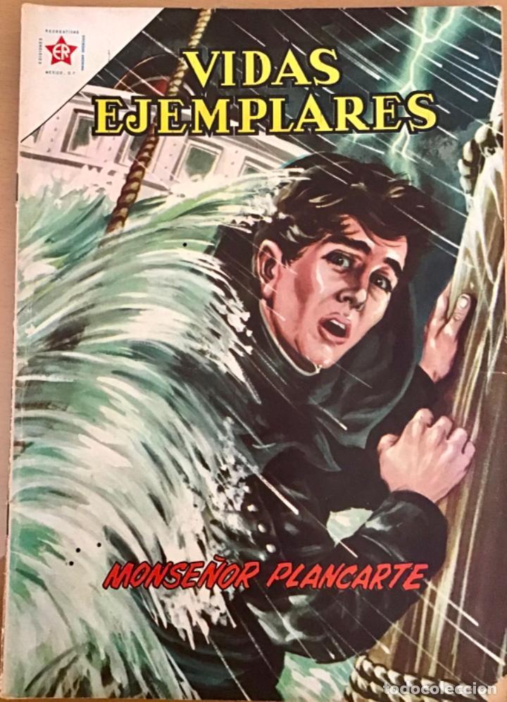 VIDAS EJEMPLARES. Nº 120. NOVARO 1962. MONSEÑOR PLANCARTE (Tebeos y Comics - Novaro - Vidas ejemplares)