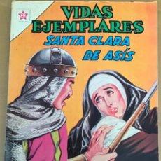 Tebeos: VIDAS EJEMPLARES. Nº 160. NOVARO 1963. SANTA CLARA DE ASIS. Lote 252561930
