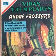 Tebeos: VIDAS EJEMPLARES. Nº 329. NOVARO 1970. ANDRE FROSSARD. Lote 252563260