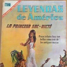 Tebeos: LEYENDAS DE AMERICA. Nº 131. NOVARO, 1967 - LA PRINCESA SAC - NICTE. MAYA. Lote 252574405