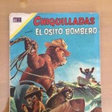 Tebeos: CHIQUILLADAS. Nº 288. NOVARO, 1970. EL OSITO BOMBERO.. Lote 252994915