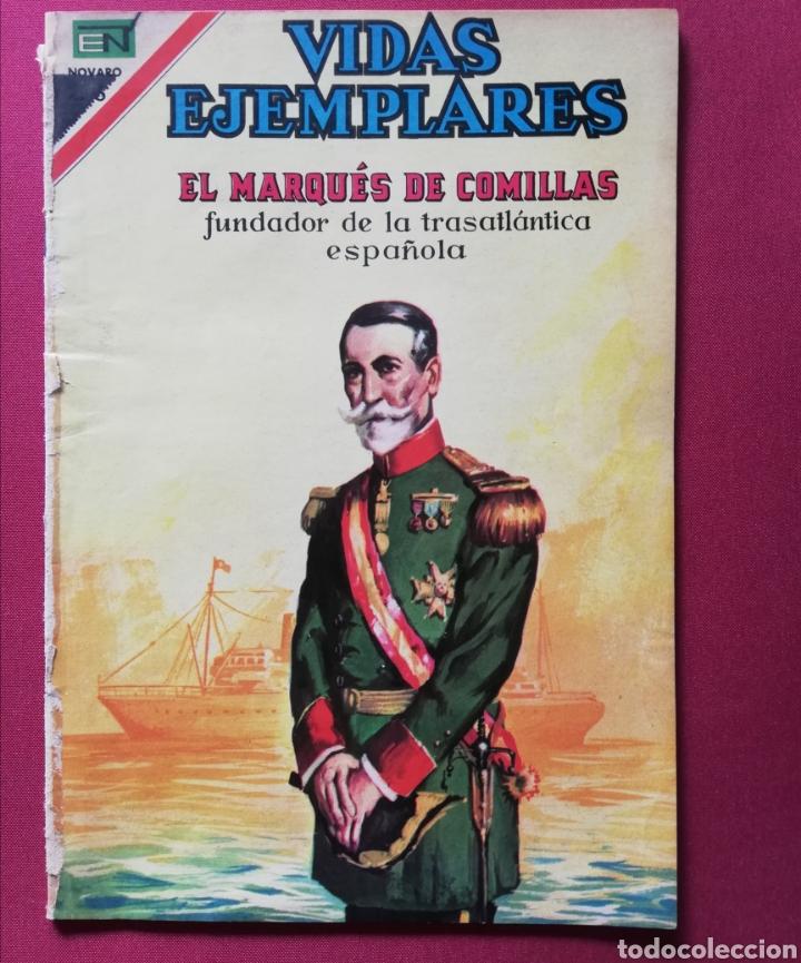 EL MARQUÈS DE COMILLAS. FUNDADOR DE LA TRASATLÁNTICA ESPAÑOLA. (Tebeos y Comics - Novaro - Vidas ejemplares)