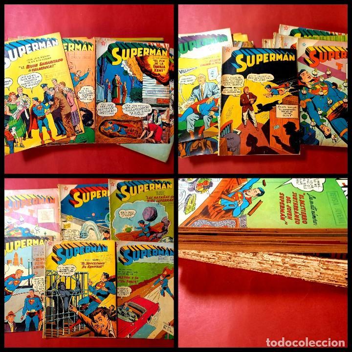 LOTE DE 32 SUPERMAN -NOVARO -LEER DESCRIPCION Y NUMERACION- (Tebeos y Comics - Novaro - Superman)