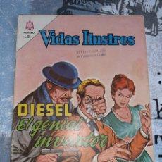 Tebeos: VIDAS ILUSTRES 105, DIESEL, NOVARO 1964. Lote 254886005