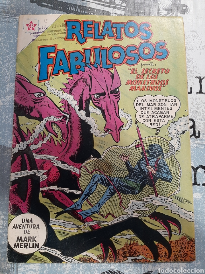 RELATOS FABULOSOS N°13 , NOVARO 1960 (Tebeos y Comics - Novaro - Sci-Fi)