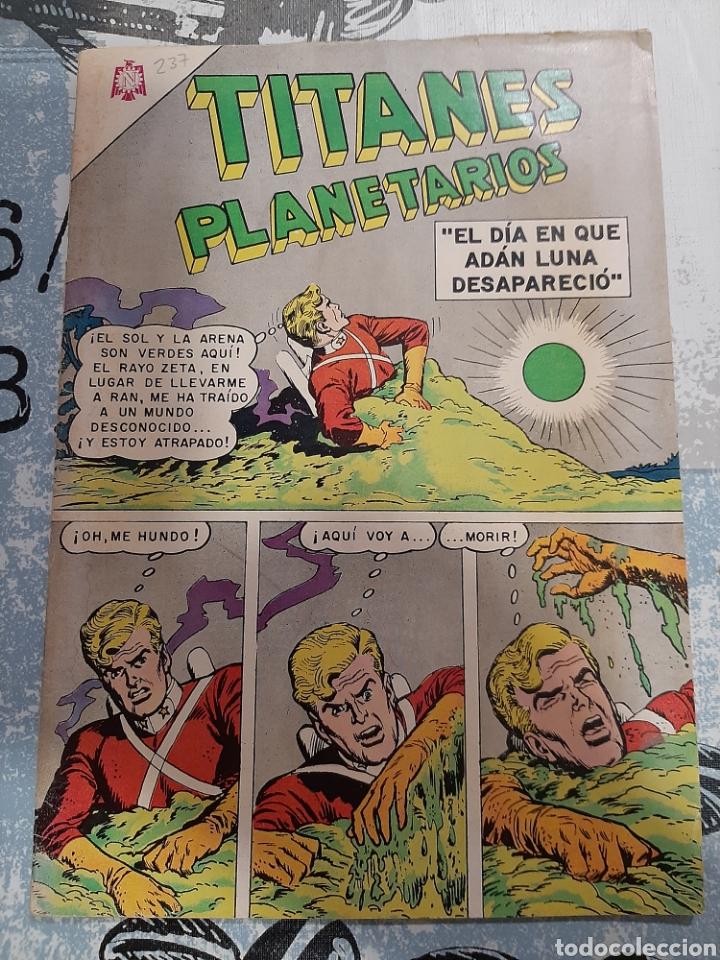 TITANES PLANETARIOS N° 237, NOVARO 1966 (Tebeos y Comics - Novaro - Sci-Fi)