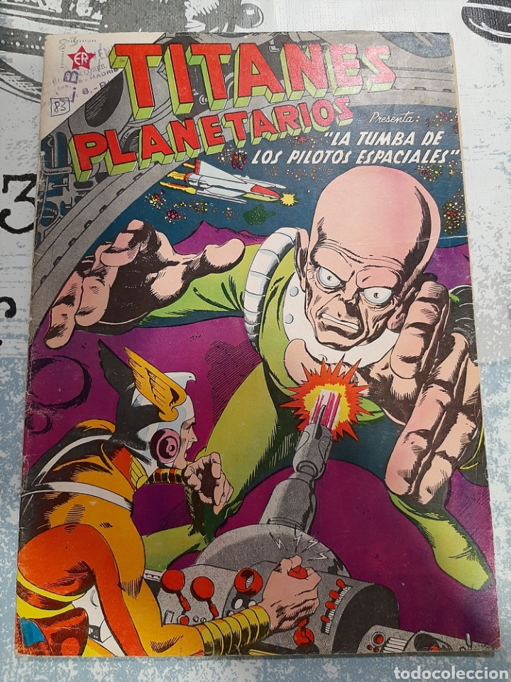 TITANES PLANETARIOS N° 83, NOVARO 1960 (Tebeos y Comics - Novaro - Sci-Fi)