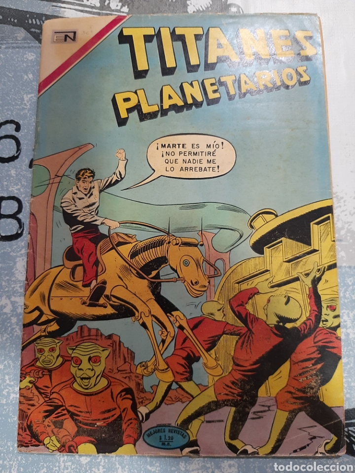 TITANES PLANETARIOS N° 361, NOVARO 1971 (Tebeos y Comics - Novaro - Sci-Fi)