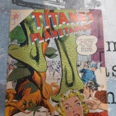 Tebeos: TITANES PLANETARIOS N° 77, NOVARO 1959, MUY NUEVO. Lote 255640635