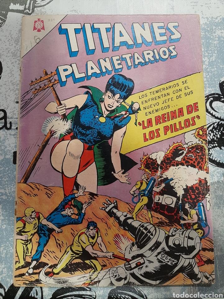 TITANES PLANETARIOS N° 231, NOVARO 1966 (Tebeos y Comics - Novaro - Sci-Fi)