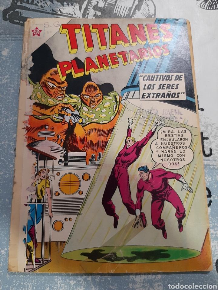TITANES PLANETARIOS N° 119, NOVARO 1961 (Tebeos y Comics - Novaro - Sci-Fi)