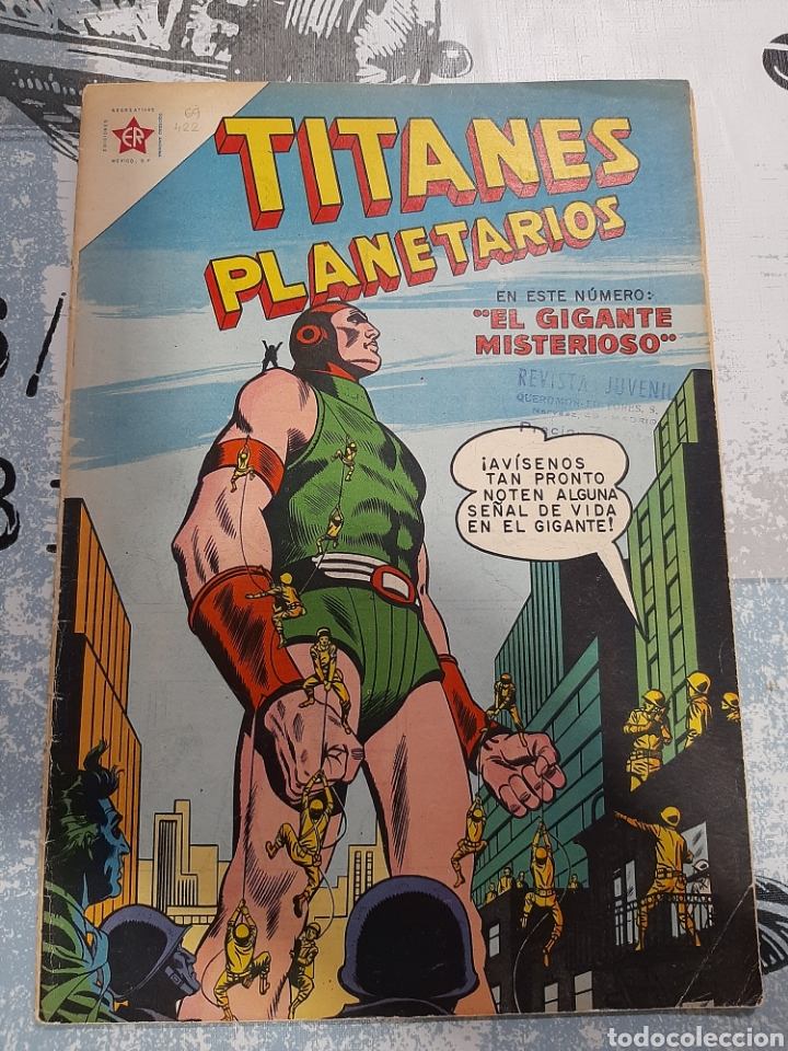 TITANES PLANETARIOS N° 69, NOVARO 1959 (Tebeos y Comics - Novaro - Sci-Fi)