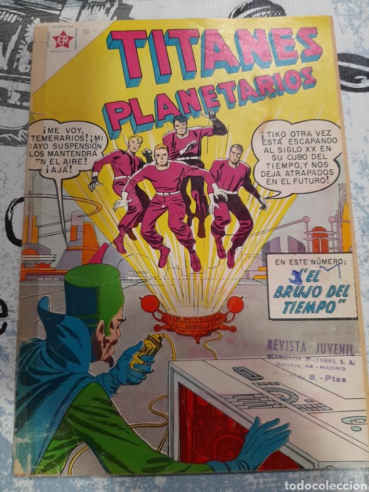 TITANES PLANETARIOS N° 82, NOVARO 1960 (Tebeos y Comics - Novaro - Sci-Fi)