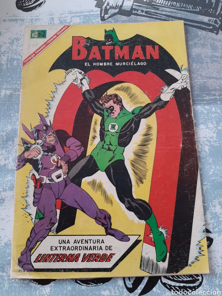 BATMAN N° 388, NOVARO 1967 ,LINTERNA VERDE (Tebeos y Comics - Novaro - Batman)